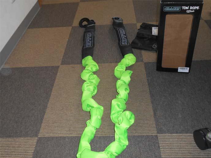 牽引ロープ TOW ROPE 12ton