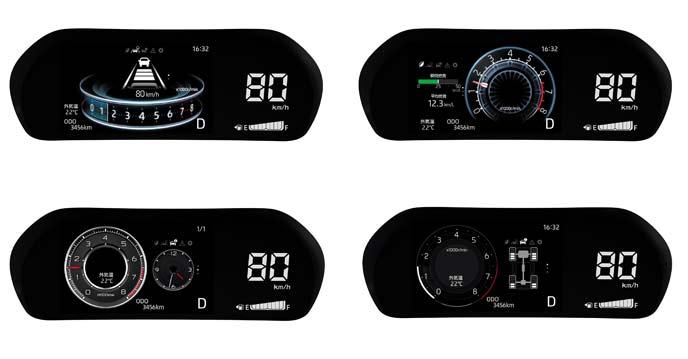 LEDデジタルスピードメーターと7インチのTFTカラー液晶ディスプレイ(マルチインフォメーションディスプレイ付き)