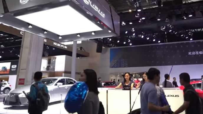 アジア最大級の北京国際モーターショーの様子