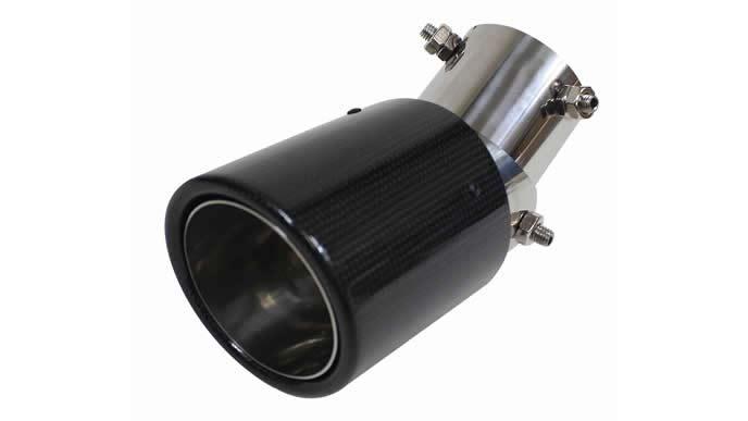 S660におすすめの汎用マフラーカッター角度調節 下向き ストレート カーボン