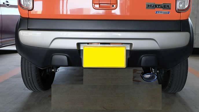 ハスラーにおすすめのハスラー 専用 チタンカラー マフラーカッター (H-t)
