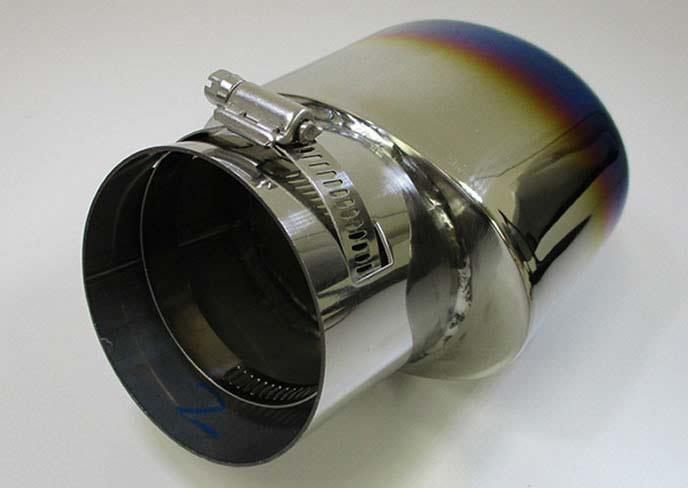 アルファードに人気のPartsMAXアルファード30系用 チタン風マフラーカッター オーバルタイプ
