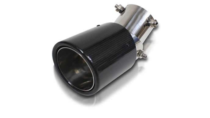 ステップワゴンにおすすめのNEXUS 汎用マフラーカッター  カーボン調オーバル角度可変式