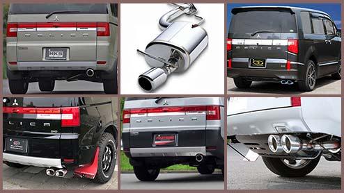デリカD5のマフラーとマフラーカッター14選~ディーゼルにも適合する人気商品