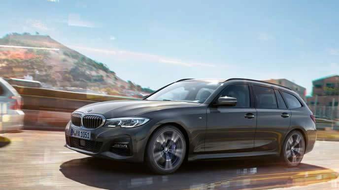 BMW・3シリーズツーリングのフロントビュー