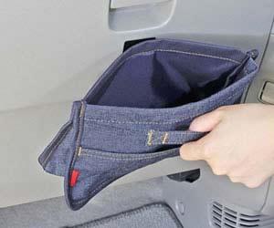おすすめ車内用ごみ箱のNAPOLEX フラットダスト  LF-145