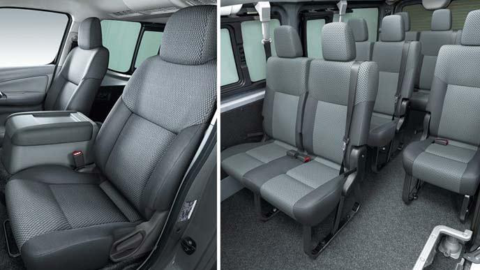 NV350キャラバンのワゴンDX(2WD・ガソリン)のシート
