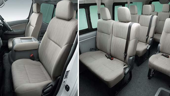 NV350キャラバンのワゴンGX(2WD・ガソリン)のシート