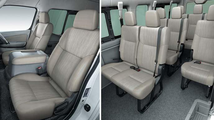 NV350キャラバンのワゴンGX(2WD・ガソリン)ロングボディのシート