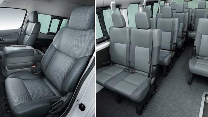 NV350キャラバンのマイクロバスDX(2WD・ディーゼルターボ)のシート