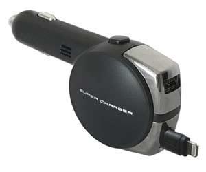 おすすめのカーチャージャーカシムラ DC充電器 リール 4.8A  LN/USB KL‐74