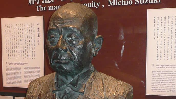 鈴木道雄の銅像
