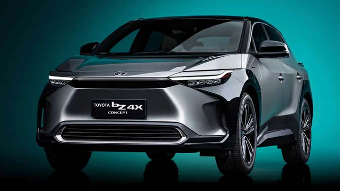 トヨタが上海モーターショ-2021で発表した新型EVのbZ4X